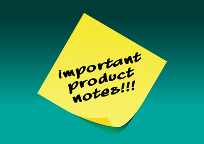 Important Product Notes Image