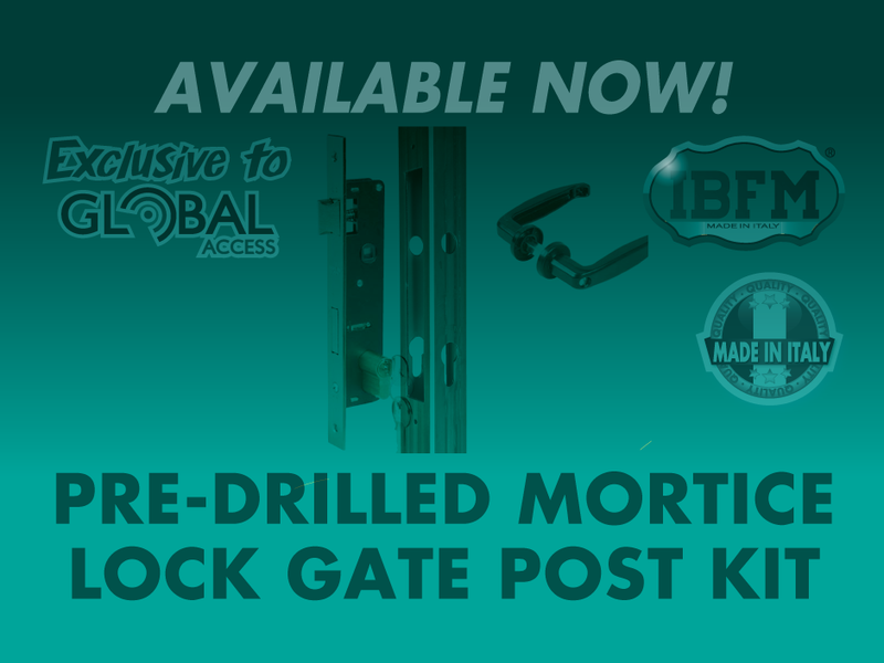Pre Drilled Mortise Lock Gate Post Kit 2