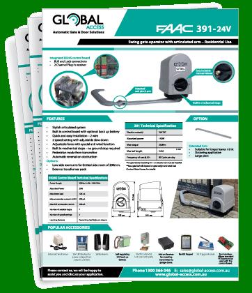 FAAC 391 Brochure