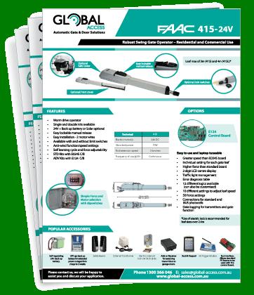 FAAC 415 Brochuree