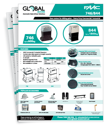 FAAC 746 / 844 Brochure