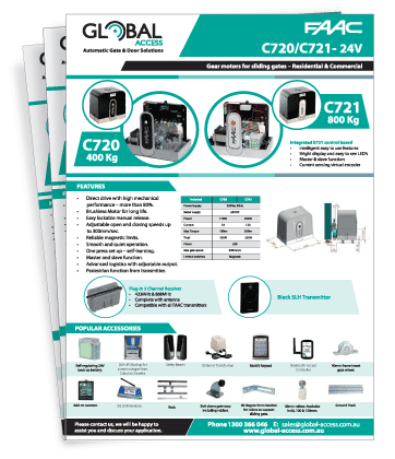 FAAC C720 / C721 Brochure