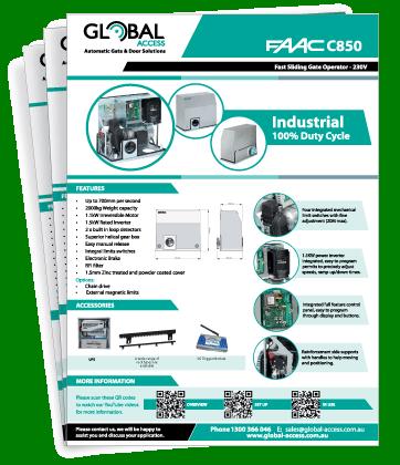 FAAC C850 Brochure