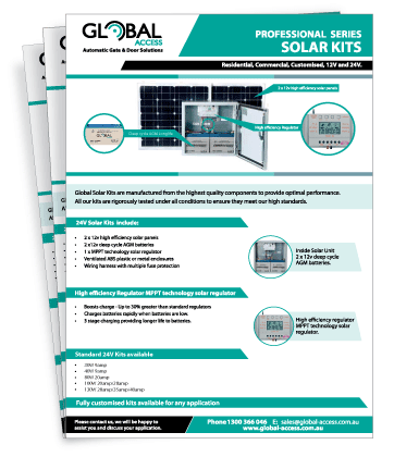 Professional Solar Kits Brochure